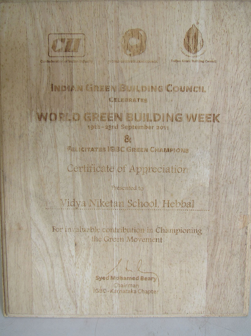Award for championing the green movement.