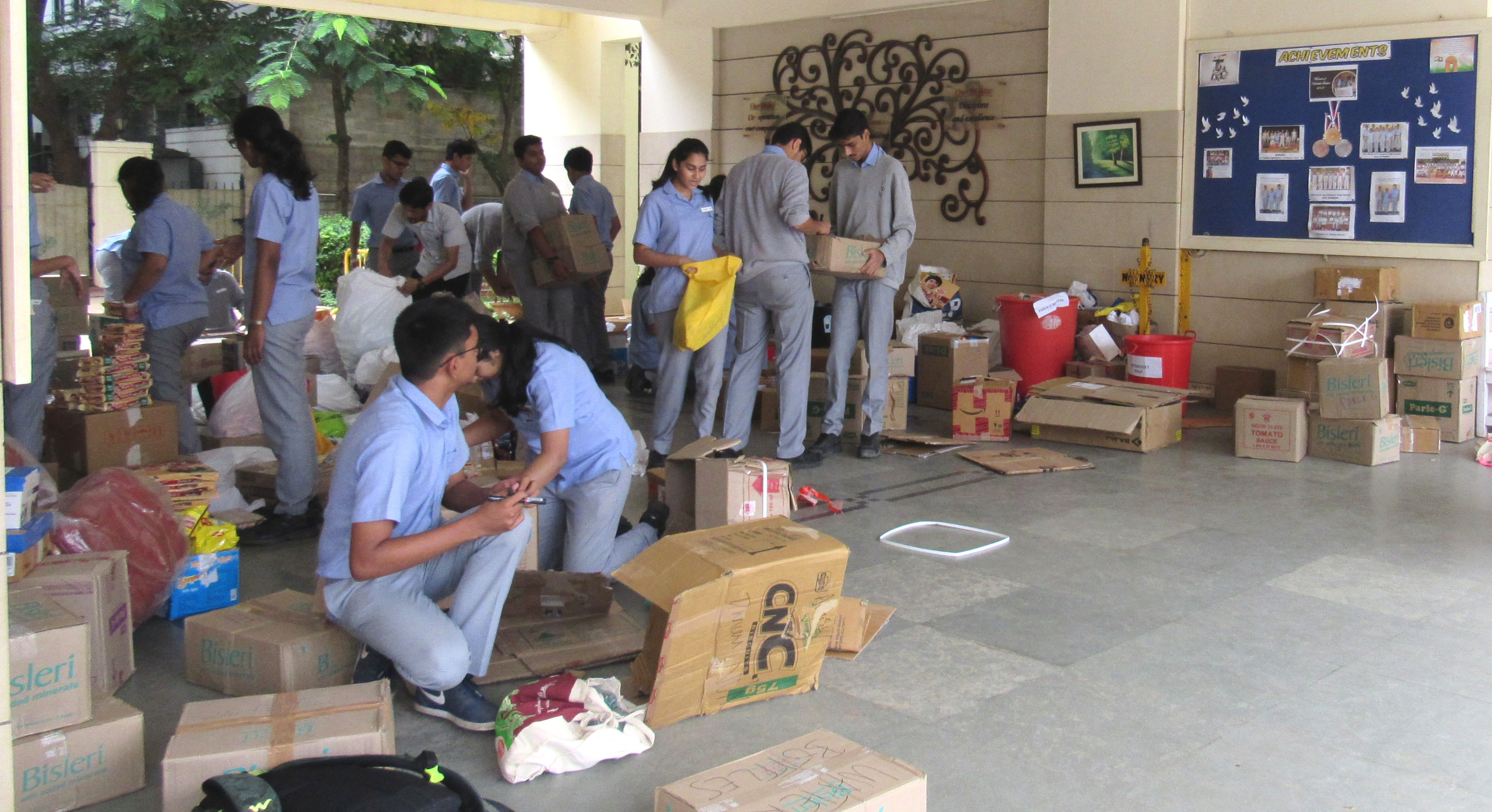 Contributions for Kerala flood relief.