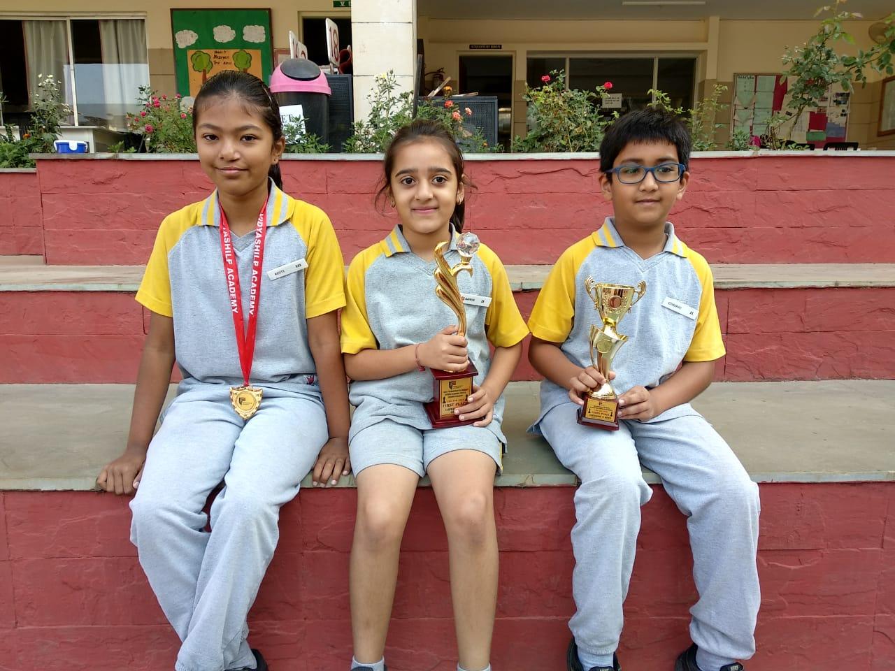 Winners of Interschool Chess championship held at Vidya Shilp Academy on 13<sup>th</sup> February 2019.