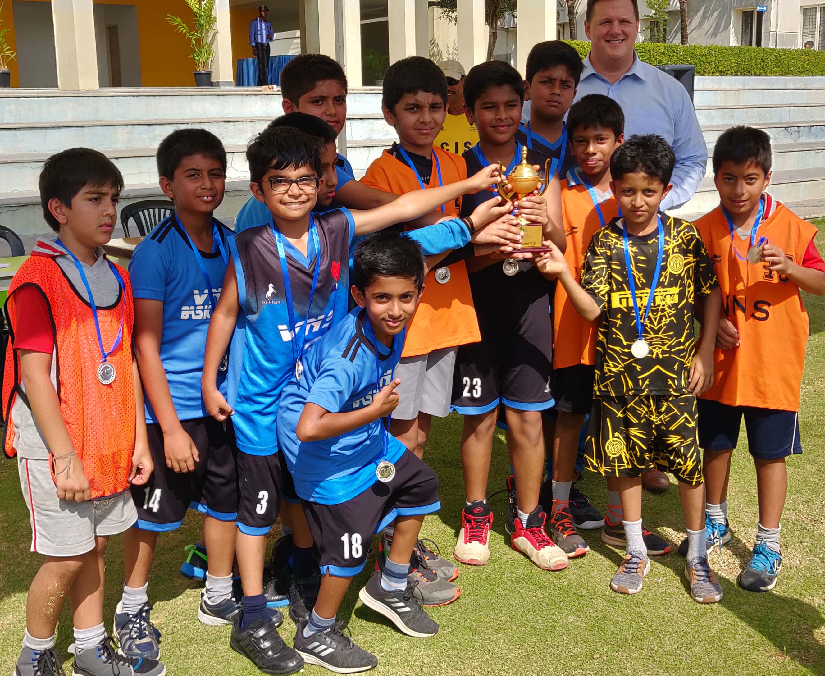 Runner's Up at Basketball Tournament held at Canadian International School.