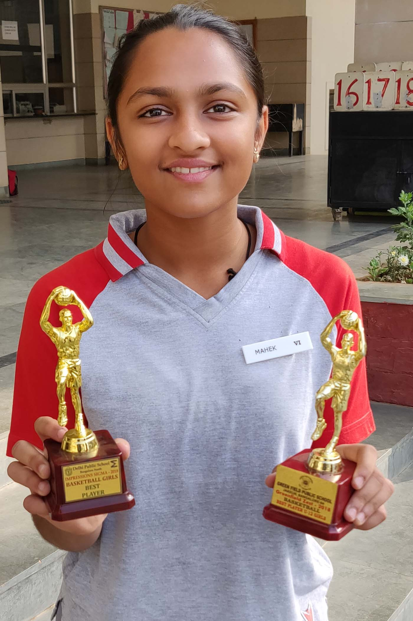 Mahek Shah - Best Basketball Player at Greenfield Public School and DPS