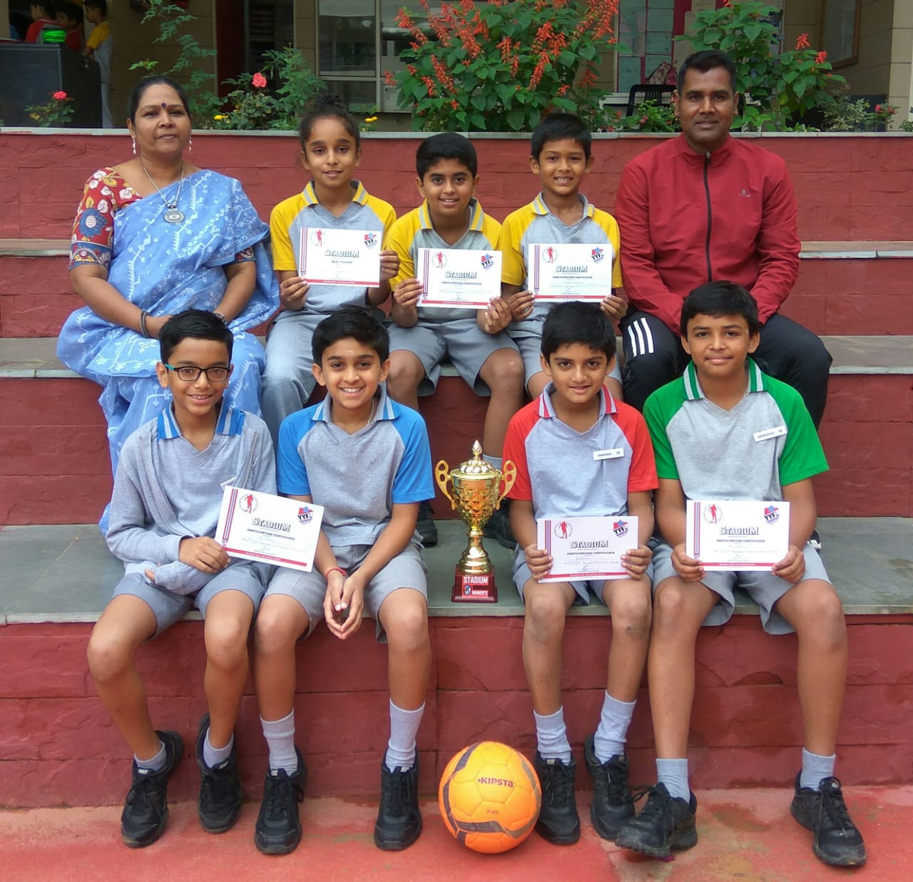 Winners of Under 12 <strong>Football Tournament</strong> organised by Soccer Stadium School