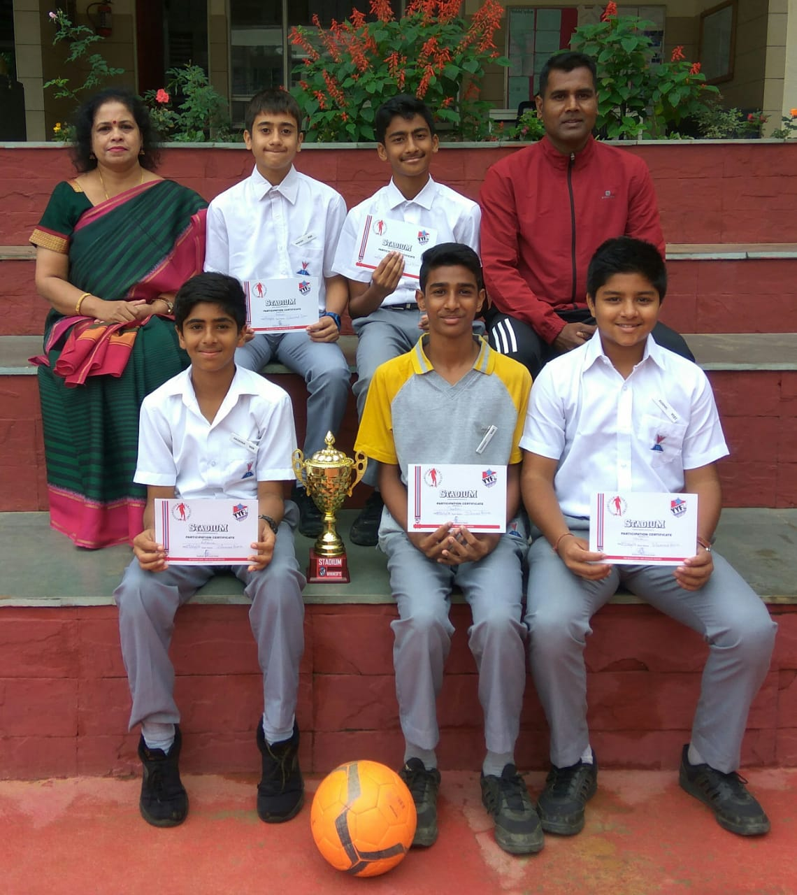 Winners of Under 14 <strong>Football Tournament</strong> organised by Soccer Stadium School