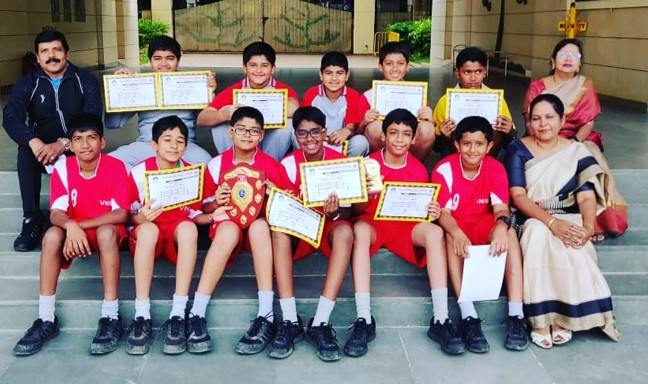 <strong>Volley ball</strong> team won Bronze and won Best Skill Team award in the V.P.S. State Level Volley ball Tournament.&nbsp;